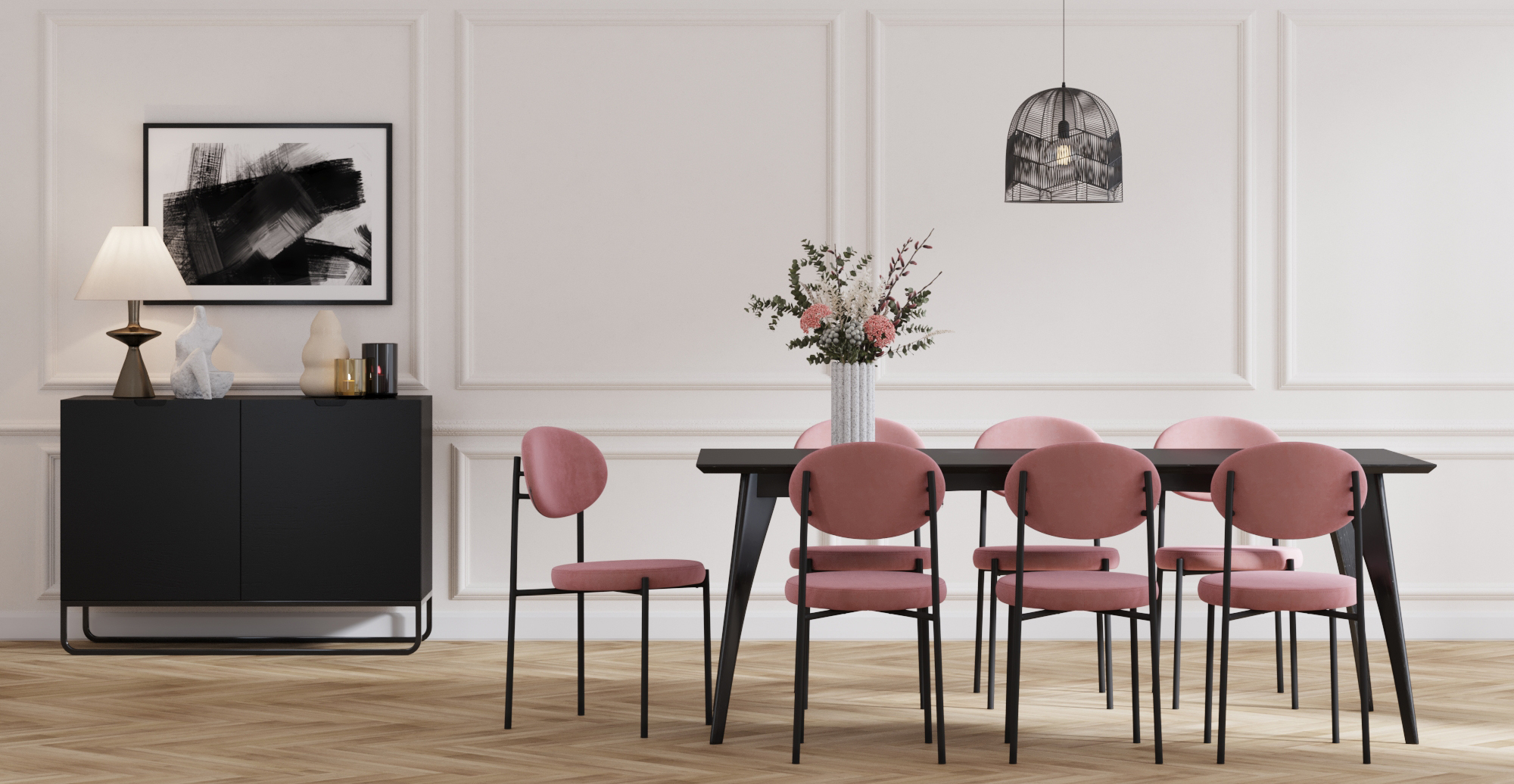 Brosa Sophie Set of 2 Dining Chairs styled in modern contemporary dining room