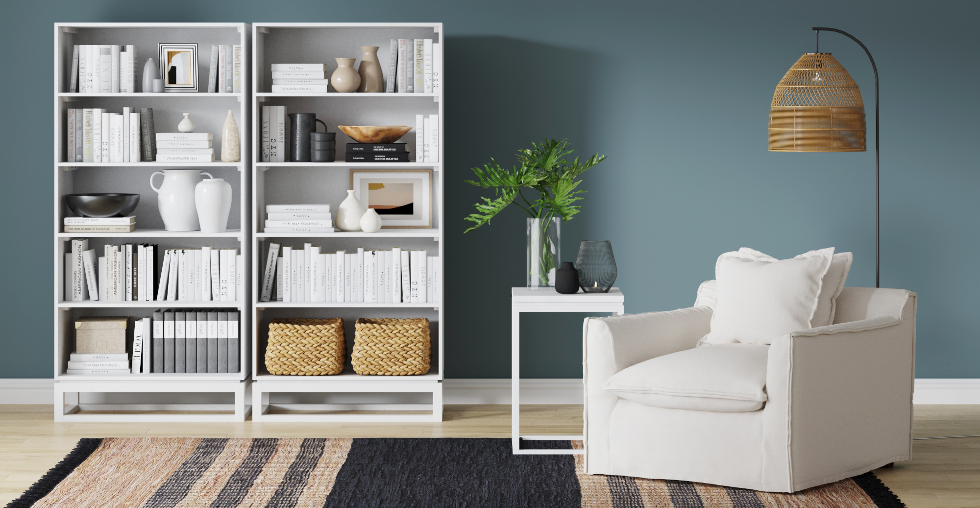 Palermo Armchair styled in coastal living room