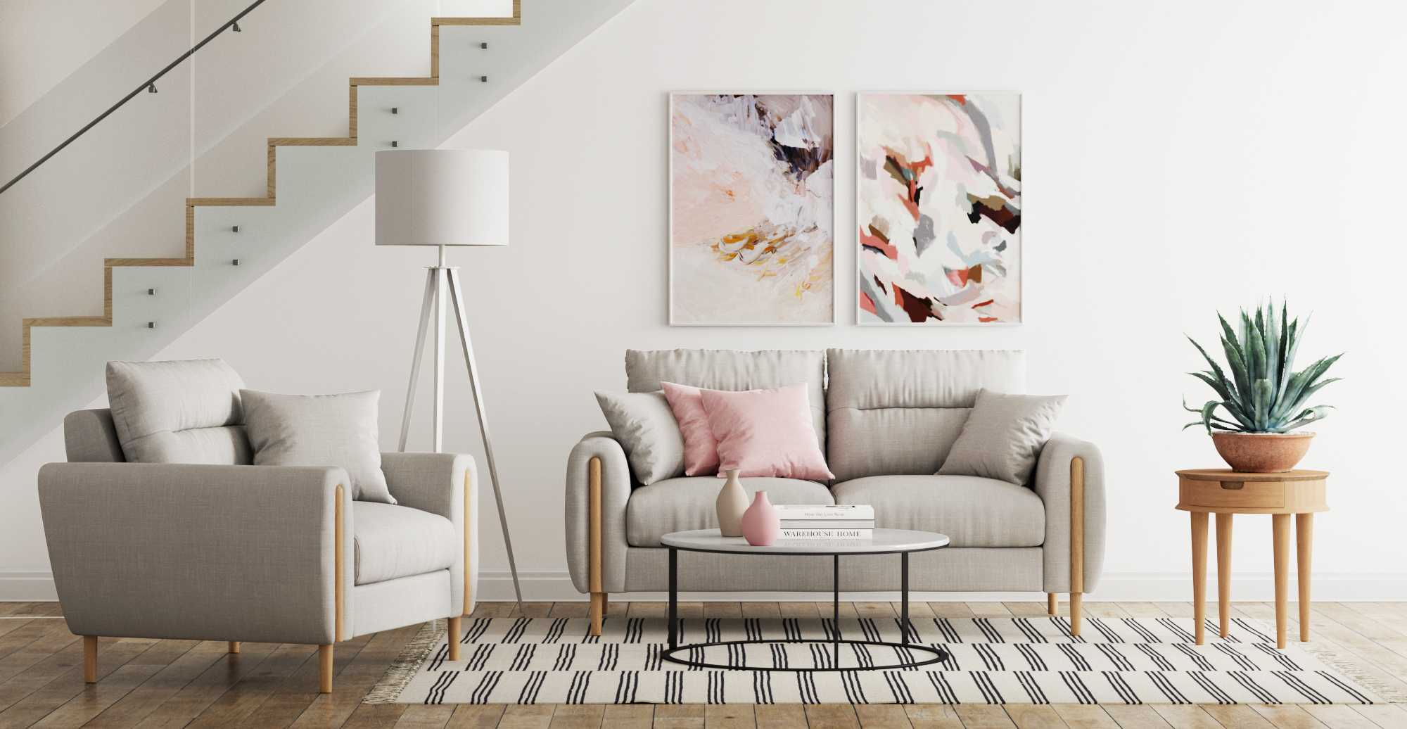Brosa Oslo Armchair and Oslo 2 Seater Sofa styled in new Art Deco living room
