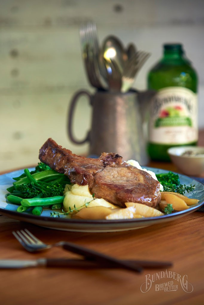 Apple-Cider-pork-cutlets-with-pears-and-thyme