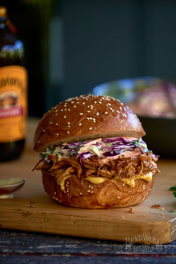 Ginger-Beer-pulled-chicken-burgers