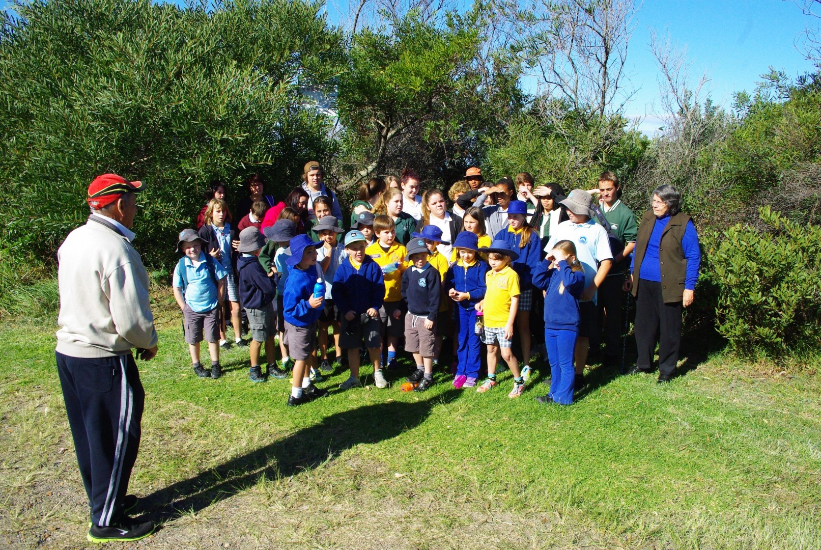 Uncle Fred and Aunty Nellie talk about the history of the Burrill Caves.