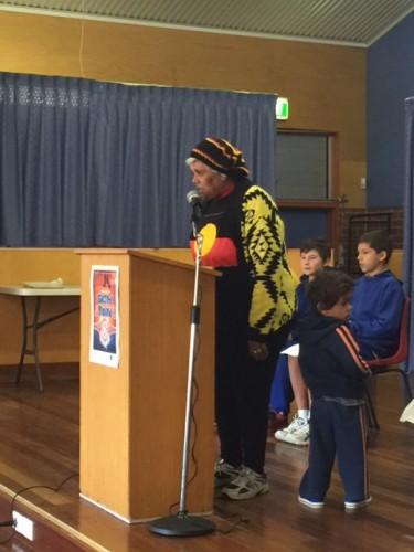 Aunty Rita Davis welcomes everyone to Walbanga Country.
