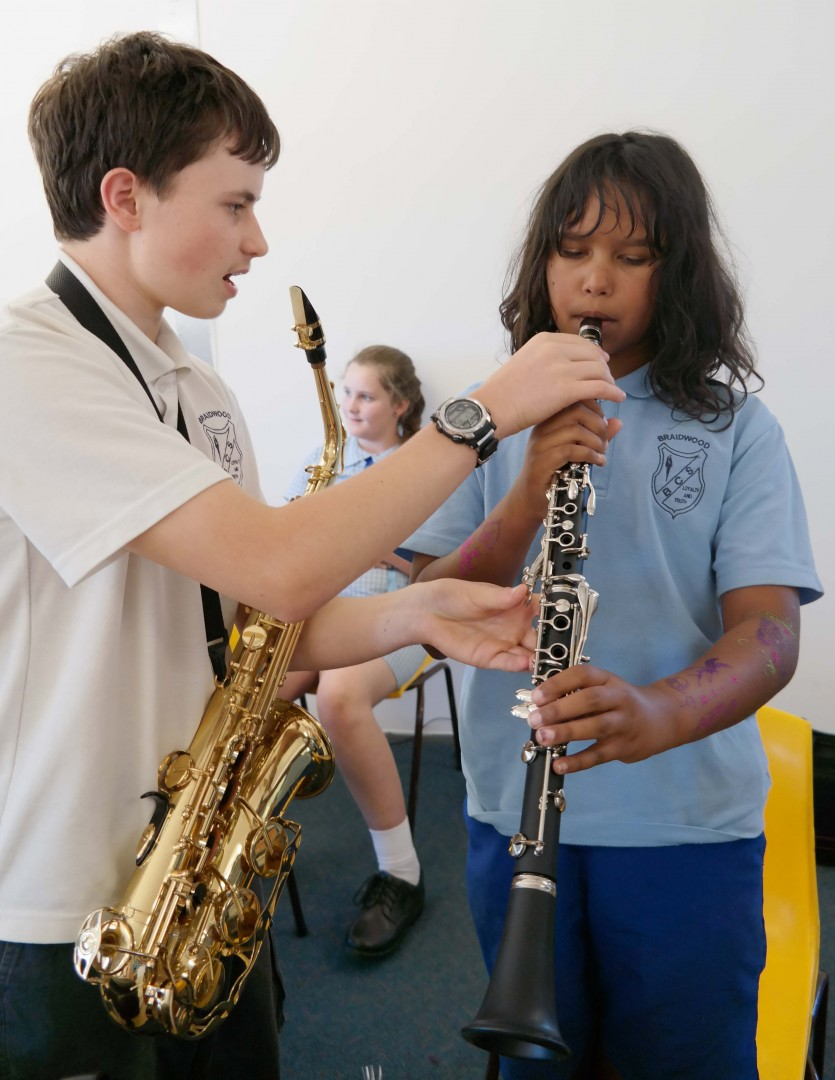 Clarinet rehearsals during Education Week