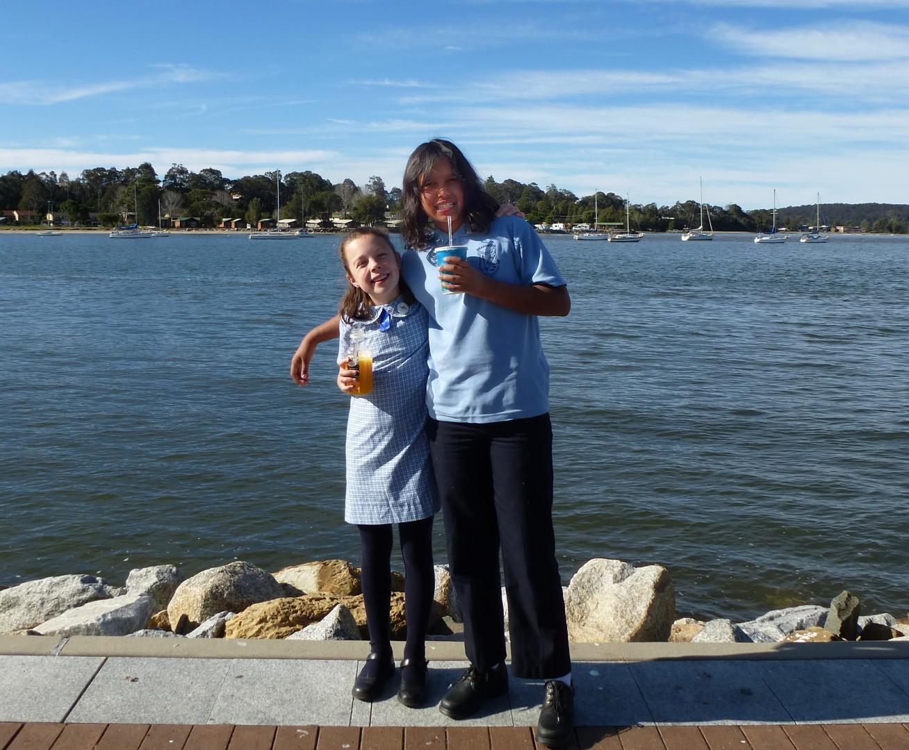 Bonnie and Jallamara at the Batemans Bay Public Speaking Event.