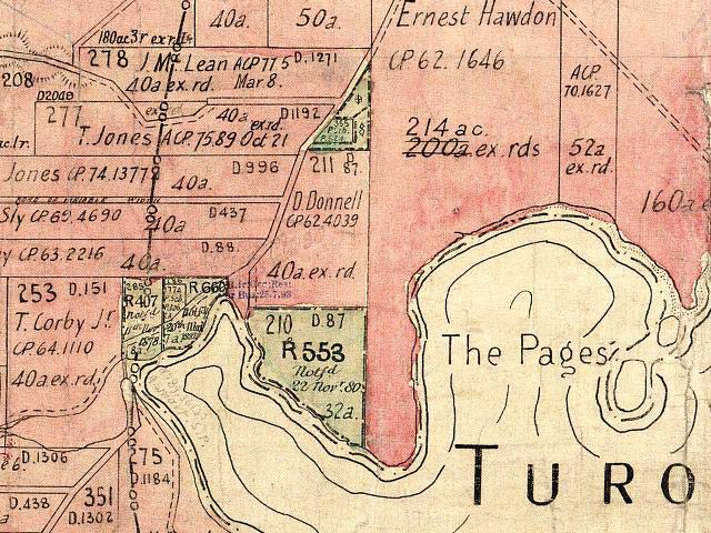 Figure 7: Map of Lake Tuross, Turlinjah (Benson Wynoo) Reserve 553 (arrow indicates location of reserve).