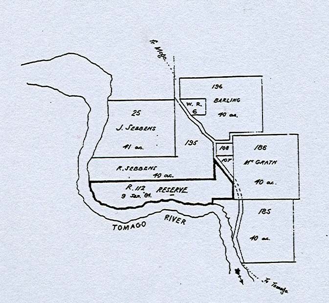 Figure 9: Map of Tomago River (Tomakin) Reserve 112.