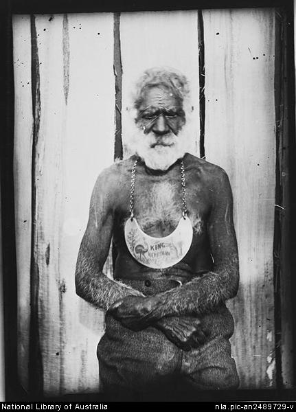 Plate 4: Umbarra, also known as King Merriman, c.1900, photograph from the W.H. Corkhill Tilba Tilba Collection, National Library of Australia.