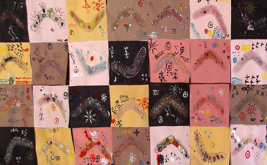 Aboriginal artwork created by Tathra Public School students.