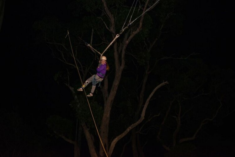Giant swing at night