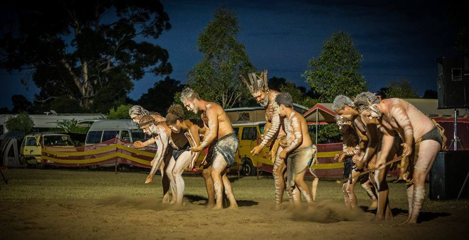 Wakagetti Dance Group sharing story at the Bulga Beats Festival 2016