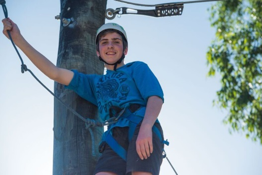 The kids felt at home on the high ropes.