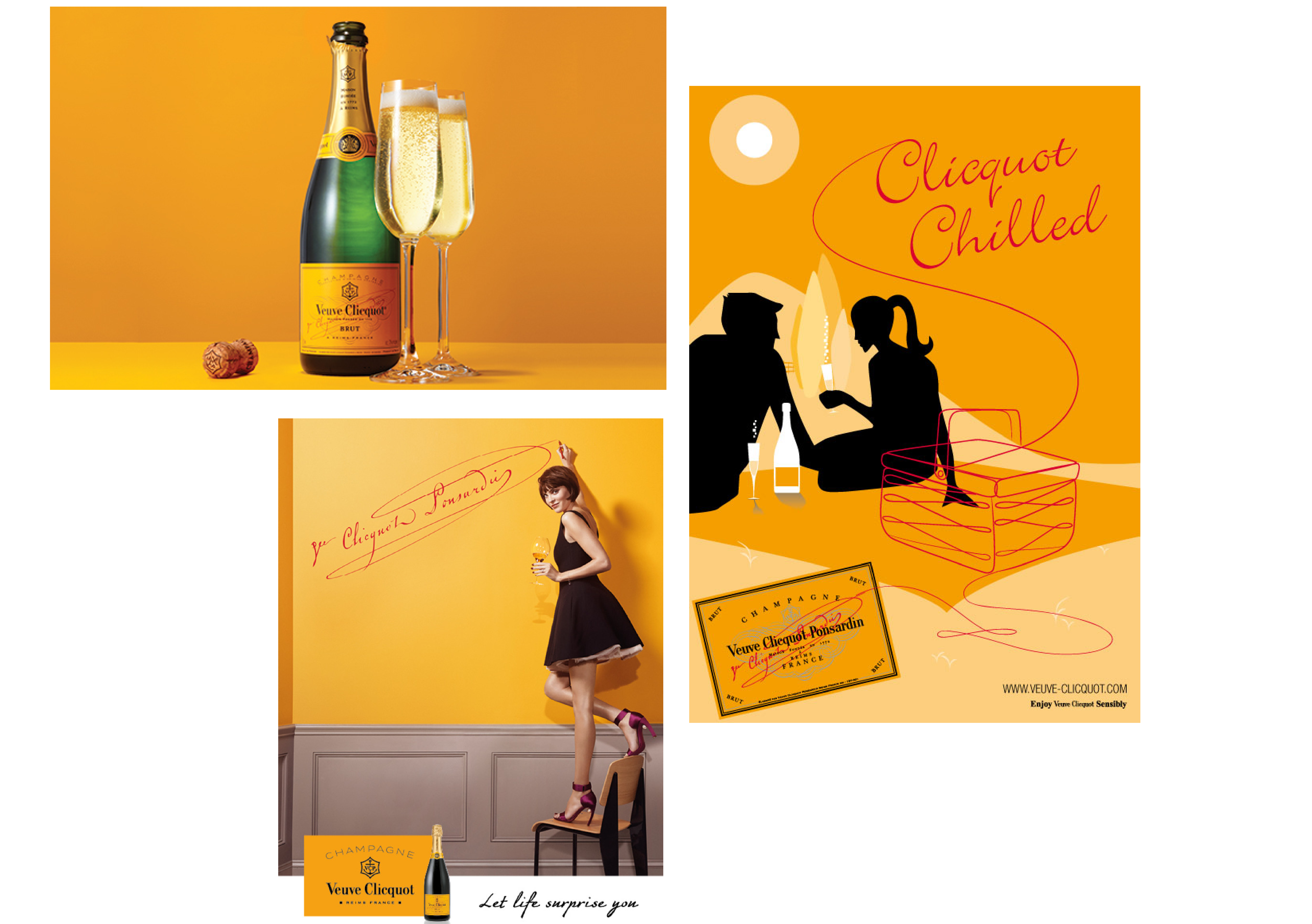 Example of a series of wine adverts.