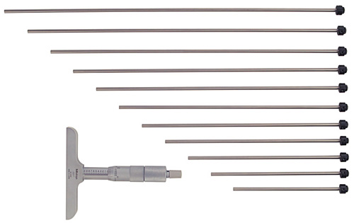 "Mitutoyo Depth Micrometer 0-12"" x 4"" Base"