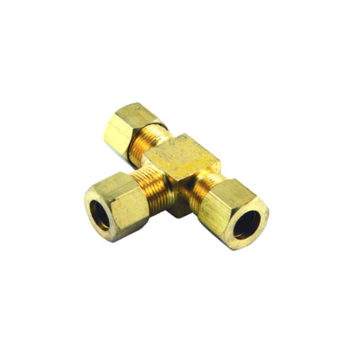 1/4in BSP Brass T-Union Connector