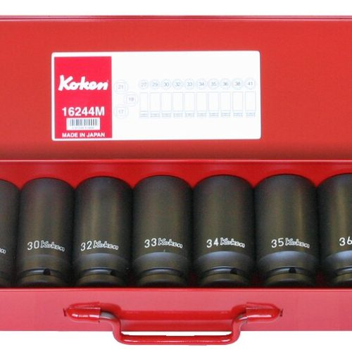 "16244M-6P Deep Impact Socket Set 3/4""Dr 13pc 27-41mm"