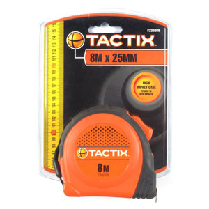 Tactix Tape Measure 8m x 25mm - Basic