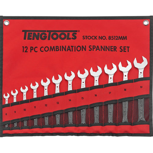 12PC ANTI-SLIP ROE COMB. SPANNER SET W/MAG. CASE