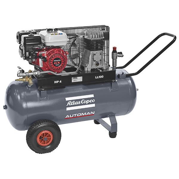 Atlas Copco Petrol 3 5HP 9 9CFM 100L Compressor