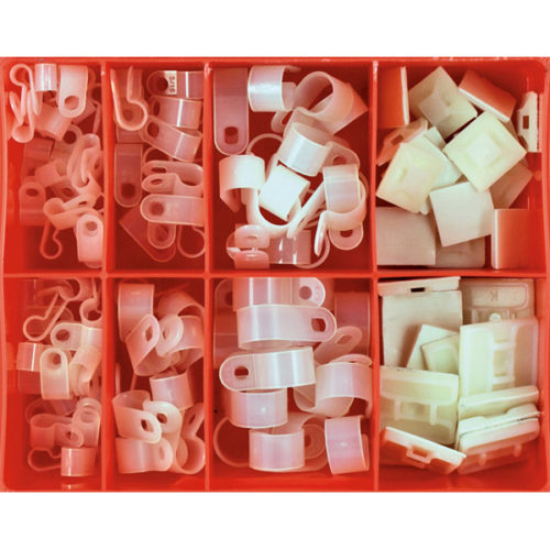 Champion 124pc P-Clamp & Cable Tie Mounts Assortment