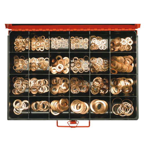 565PC FUEL INJECTION COPPER  WASHER ASSORTMENT