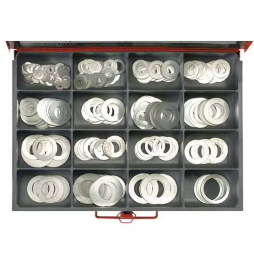 466PC MASTER STEEL SHIM WASHER ASSORTMENT -0.006IN