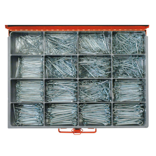 1640PC STEEL SPLIT (COTTER) PIN ASSORTMENT