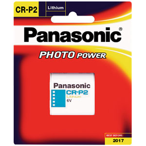 Panasonic 6V Lithium Camera Battery 1400Mah Cap.
