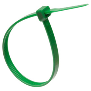 ISL 300 x 4.8mm Nylon Cable Tie - Green - 100pk