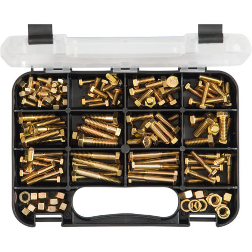 Champion GJ Grab Kit 130pc High Tensile Hex Bolts & Nuts -UN