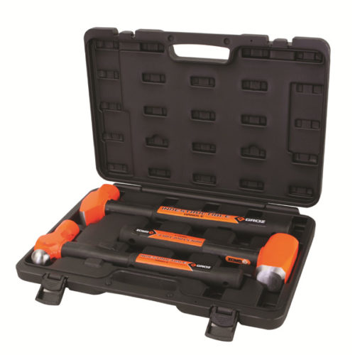 3PC GROZ INDESTRUCTIBLE HANDLE HAMMER KIT (2)