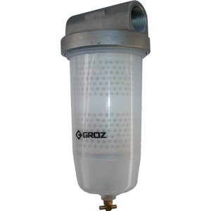 Groz Universal Fuel Filter W/ Filter - 1in BSP