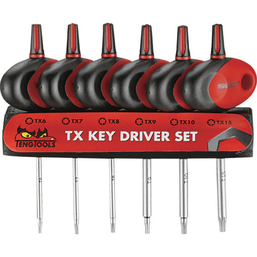 Teng 6pc MD Mini TX T-Handle S/Driver Set w/Holder