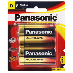 Panasonic D Battery Alkaline (2pk)