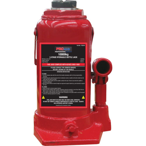 ProEquip 10000kg 3-Stage Bottle Jack (AS/NZS)