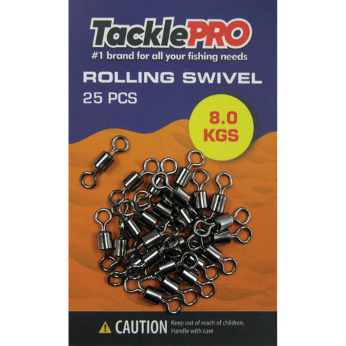 TacklePRO Rolling Swivel 8.0kg - 25pc