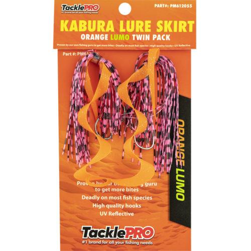 TacklePro Kabura Lure Skirt - Orange/Lumo (Twin Pack)
