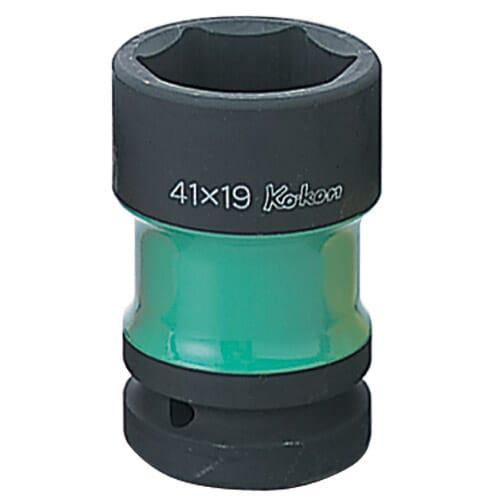 """PW8P Impact Rear Wheel Nut Socket 1""""Dr 41 x 19mm Green"""