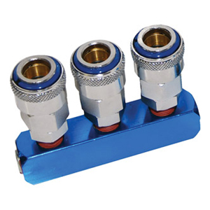 THB Manifold 3 Way Single Action Coupler