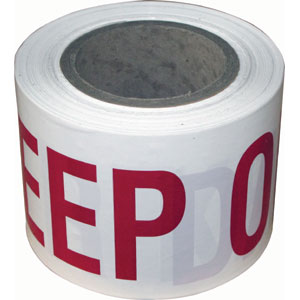 DANGER KEEP OUT BARRIER TAPE 100MM X 100M