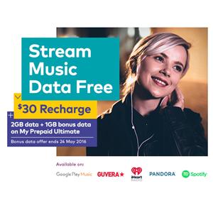 Stream music data free with Optus - Convenience & Impulse