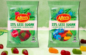 Allens 25% less sugar