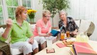 Senior Women Group Social Gathering Book Club