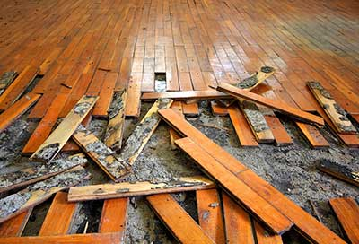 water damage floorboards