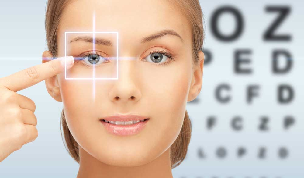 lasik eye surgery woman
