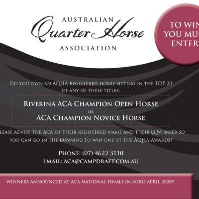 Australian Quarter Horse Award