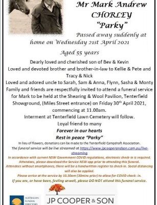Funeral Notice for Marl Chorley