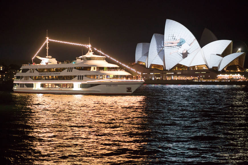 ae8784786e02 Vivid 7.30pm Gold Penfolds Dinner   Drinks. Up to 3.5hr cruise ...