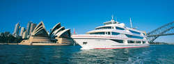 As the sun goes down on Sydney Harbour and the city lights come on, the stage is set for a relaxing Sydney dinner cruise. A luxury Sydney Harbour dinner cruise enhances the harbour dining experience with great food, spectacular views and live entertainment.