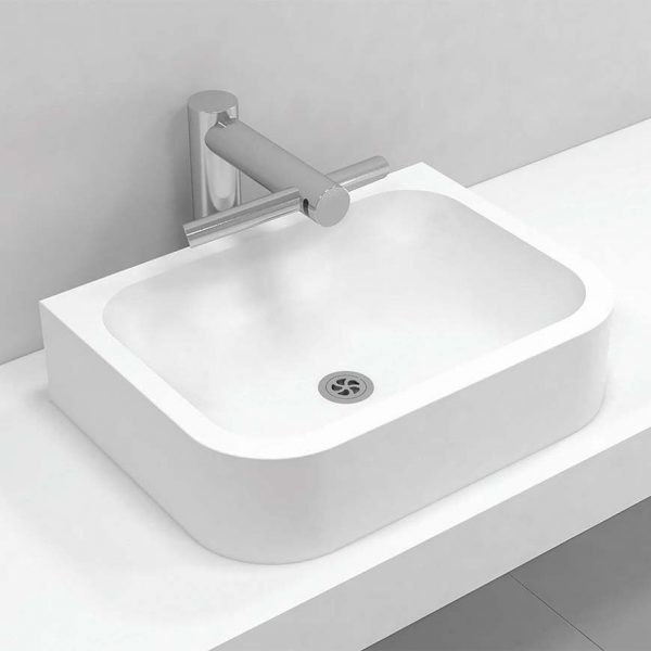 Corian® top mount basin single 306